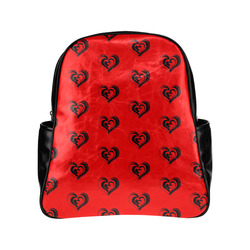 lovely hearts 17B by JamColors Multi-Pockets Backpack (Model 1636)