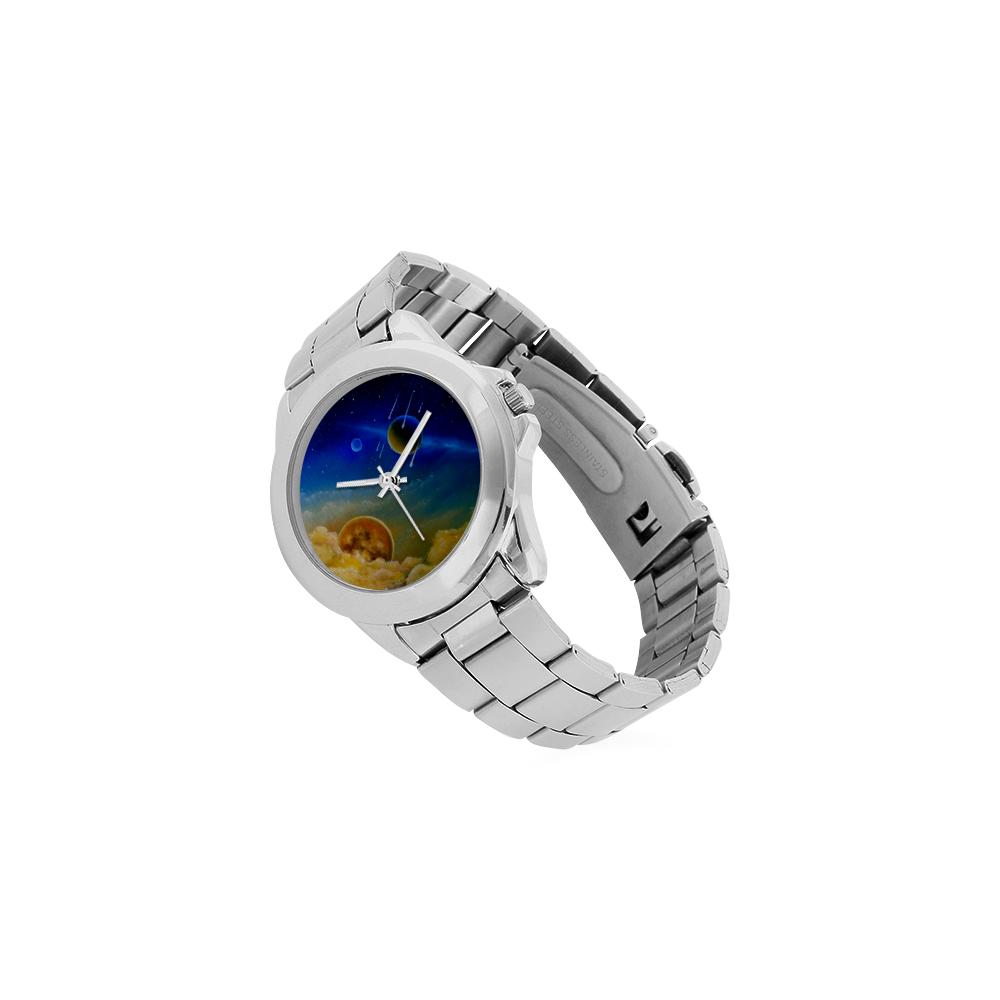 Cosmic Illumination Unisex Stainless Steel Watch(Model 103)