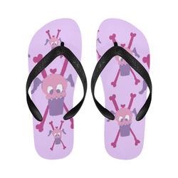 purpleflyingscullyflipflops Flip Flops for Men/Women (Model 040)