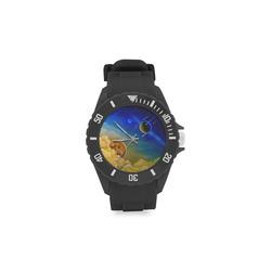 Cosmic Illumination Sport Rubber Strap Watch(Model 301)