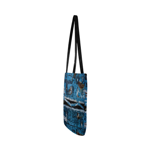 Blue painted wood Reusable Shopping Bag Model 1660 (Two sides)