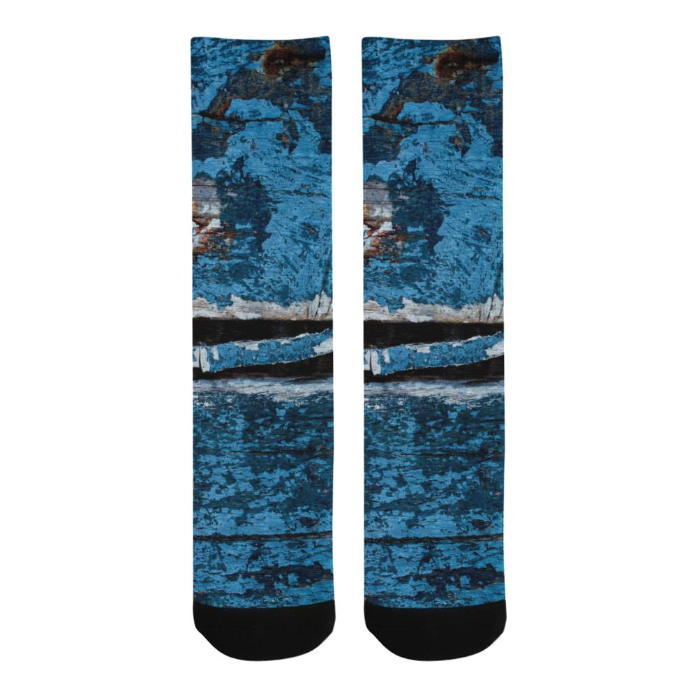Blue painted wood Trouser Socks