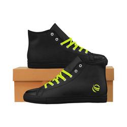 "Galaxy ""Yellow symbol"" Aquila High Top Microfiber Leather Men's Shoes (Model 027)"