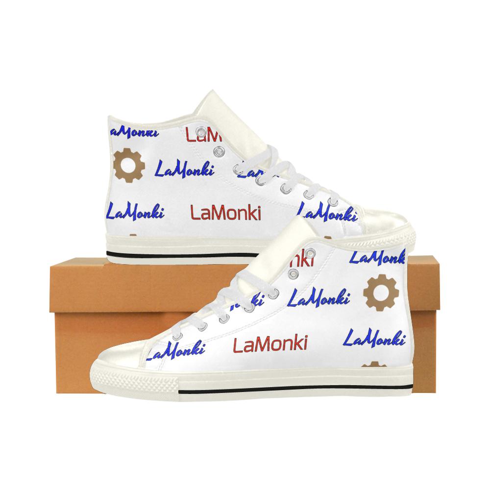 "Galaxy ""Signature Stripe"" Aquila High Top Microfiber Leather Men's Shoes (Model 027)"