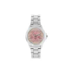 Hearts, soft colors Unisex Stainless Steel Watch(Model 103)