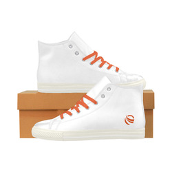 "Galaxy ""Orange Symbol"" Aquila High Top Microfiber Leather Men's Shoes (Model 027)"