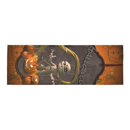 Halloween, funny mummy Area Rug 10'x3'3''