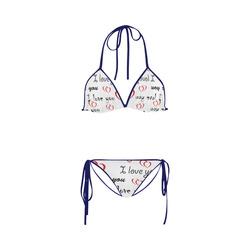 "love you bae ""Blue"" Custom Bikini Swimsuit"