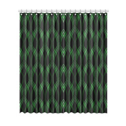 "Emerald Green Ribbons Window Curtain 52""x120""(Two Piece)"