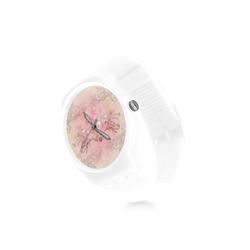 Hearts, soft colors Round Plastic Watch(Model 304)