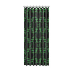 "Emerald Green Ribbons Window Curtain 52"" x 120""(One Piece)"