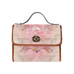 Hearts, soft colors Waterproof Canvas Bag/All Over Print (Model 1641)
