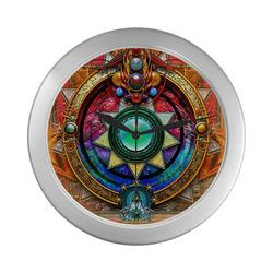 Stargates Silver Color Wall Clock
