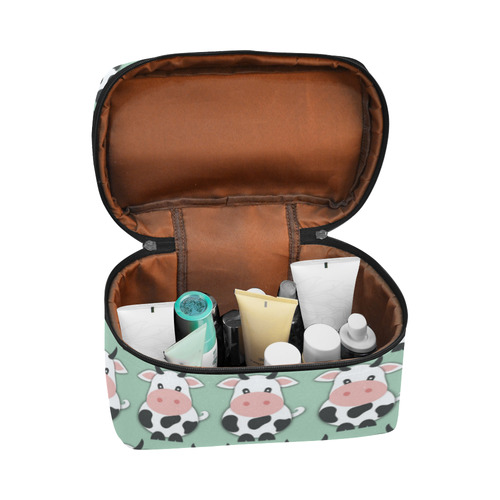 Cute Cow Pattern Cosmetic Bag/Large (Model 1658)