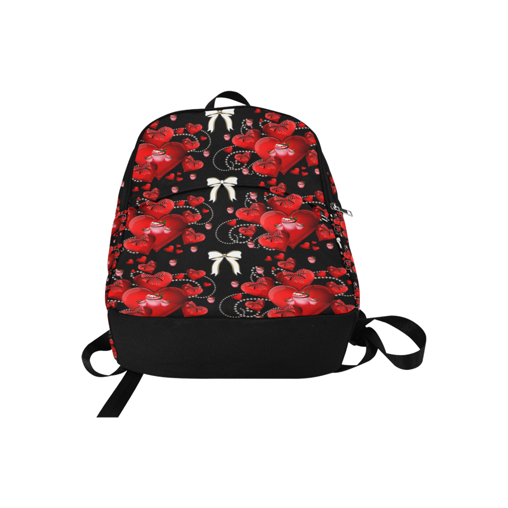 Rockabilly hearts and bows Fabric Backpack for Adult (Model 1659)