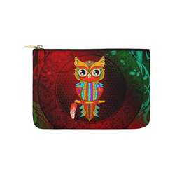 Cute owl, mandala design Carry-All Pouch 9.5''x6''