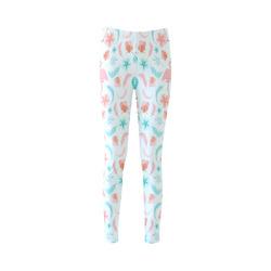 Fancy Flamingos Cassandra Women's Leggings (Model L01)