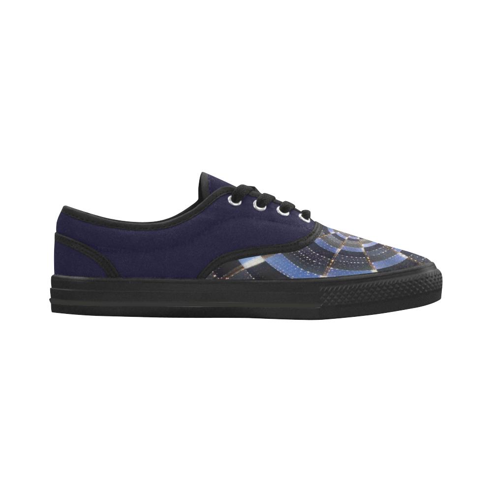 Midnight Crazy Dart Aries Women's Canvas Shoes (Model 029)