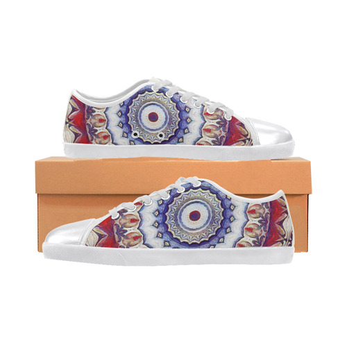 X-Mas Romantic Mandala Women's Canvas Shoes (Model 016)