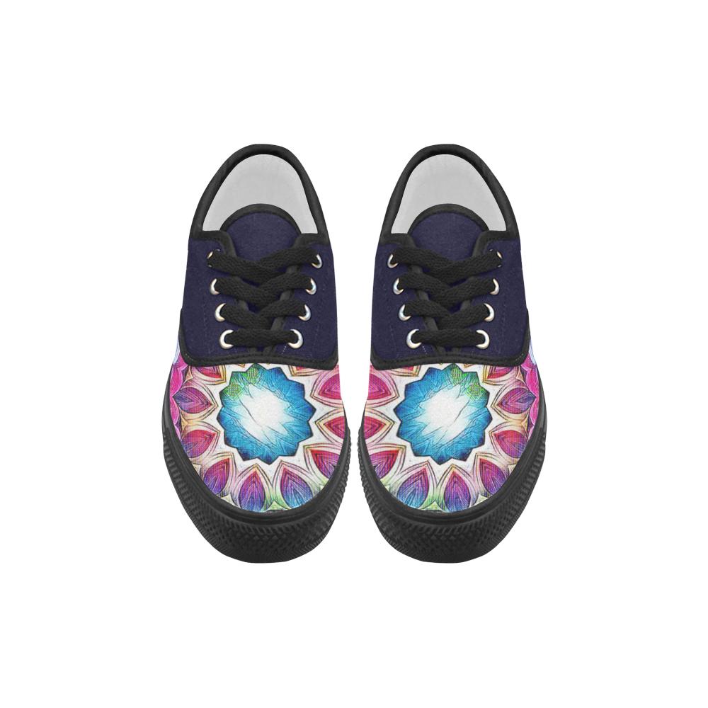 Sunshine Feeling Mandala Aries Women's Canvas Shoes (Model 029)