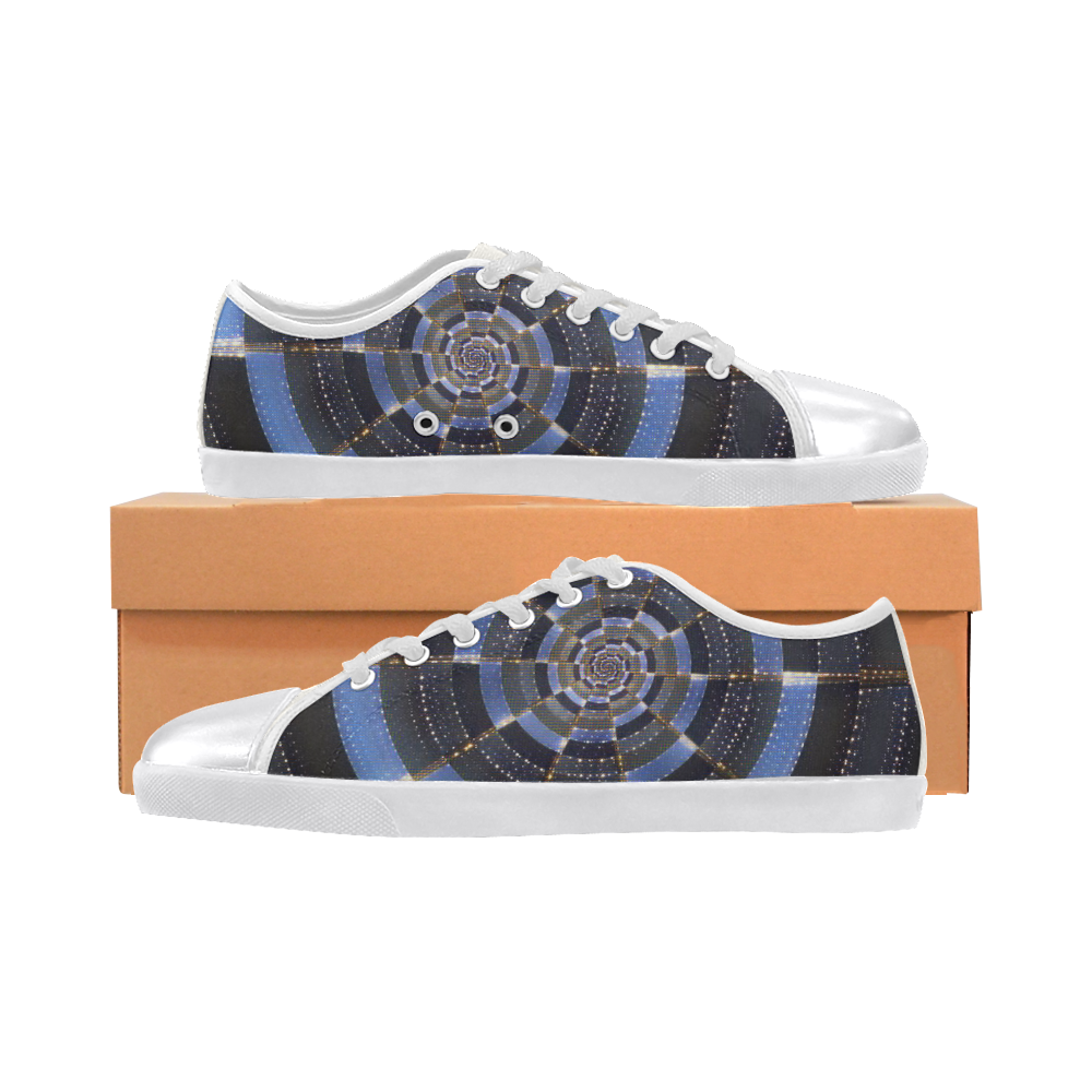 Midnight Crazy Dart Women's Canvas Shoes (Model 016)