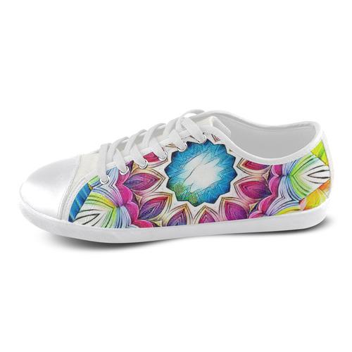 Sunshine Feeling Mandala Women's Canvas Shoes (Model 016)
