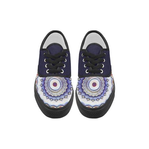 X-Mas Romantic Mandala Aries Women's Canvas Shoes (Model 029)