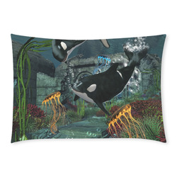 Amazing orcas Custom Rectangle Pillow Case 20x30 (One Side)