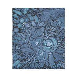 "Watercolor Night garden Cotton Linen Wall Tapestry 51""x 60"""