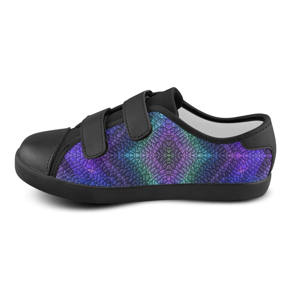 Dragon Skin Velcro Canvas Kid's Shoes (Model 008)