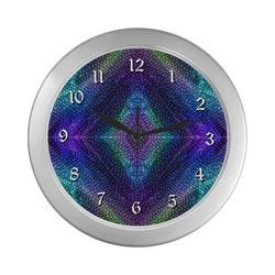 Dragon Skin Silver Color Wall Clock
