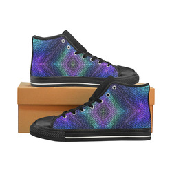Dragon Skin High Top Canvas Shoes for Kid (Model 017)