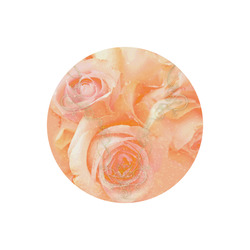 Beautiful roses, Round Mousepad