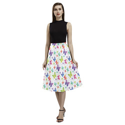 Colorful Butterflies Aoede Crepe Skirt (Model D16)