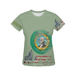 WOLF PACK WASHINGTON All Over Print T-Shirt for Women (USA Size) (Model T40)
