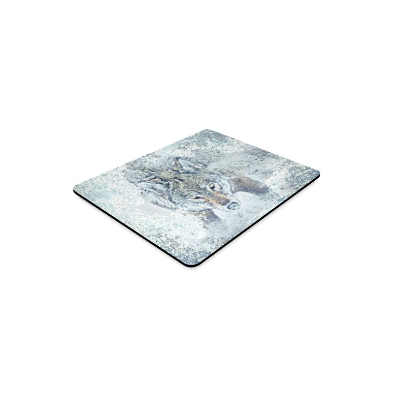 Snow Wolf Rectangle Mousepad