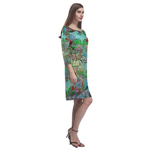 Tropical Rain Rhea Loose Round Neck Dress(Model D22)