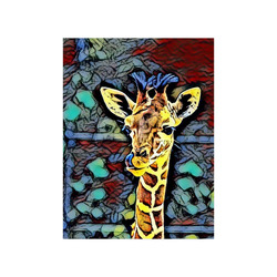 "Color Kick - Baby Giraffe by JamColors Poster 18""x24"""