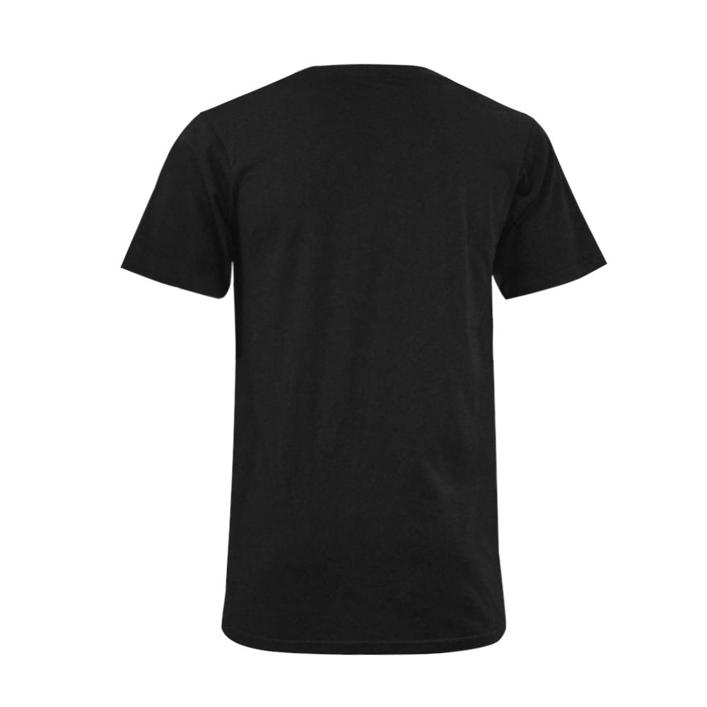 Jays Red and White Men's V-Neck T-shirt  Big Size(USA Size) (Model T10)