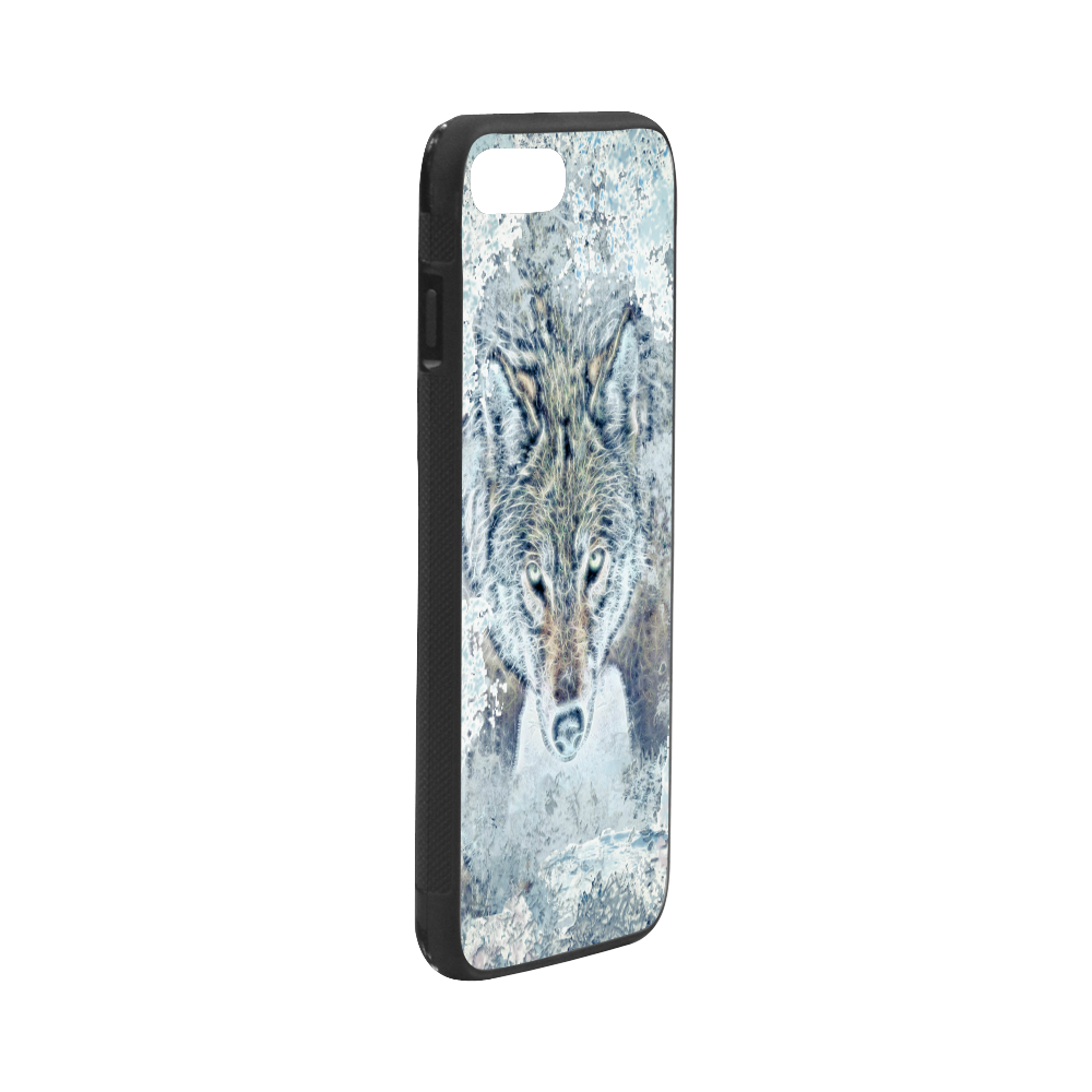 """Snow Wolf Rubber Case for iPhone 7 plus (5.5"""")"""