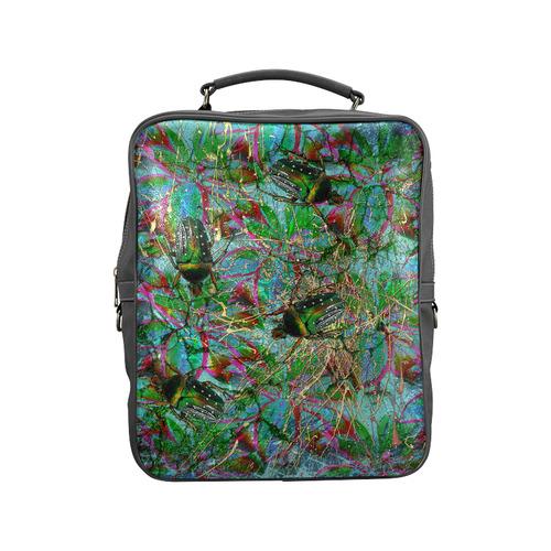 Wandering beautiful beetles Square Backpack (Model 1618)