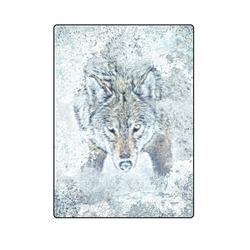 """Snow Wolf Blanket 58""""x80"""""""