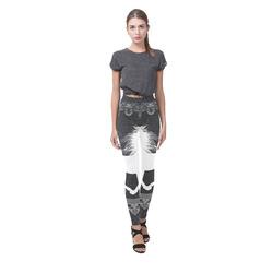 Horse, black and white Cassandra Women's Leggings (Model L01)
