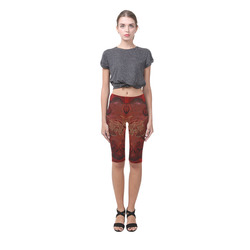 Bird, decorative design Hestia Cropped Leggings (Model L03)