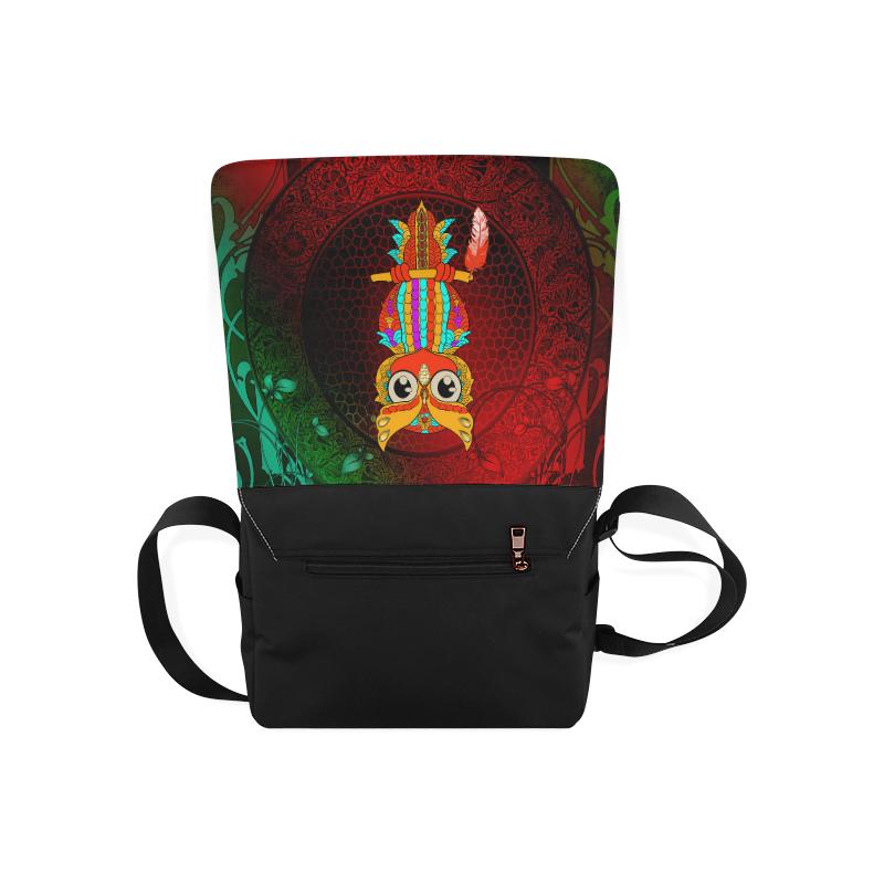 Cute owl, mandala design Messenger Bag (Model 1628)