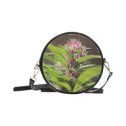 Pink Hair Lady Round Sling Bag (Model 1647)