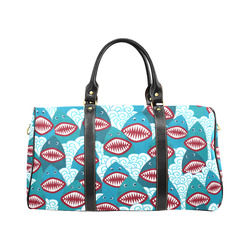 Angry Sharks New Waterproof Travel Bag/Large (Model 1639)