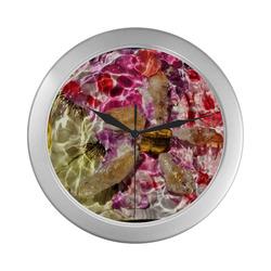 Rockstar of Spring Silver Color Wall Clock