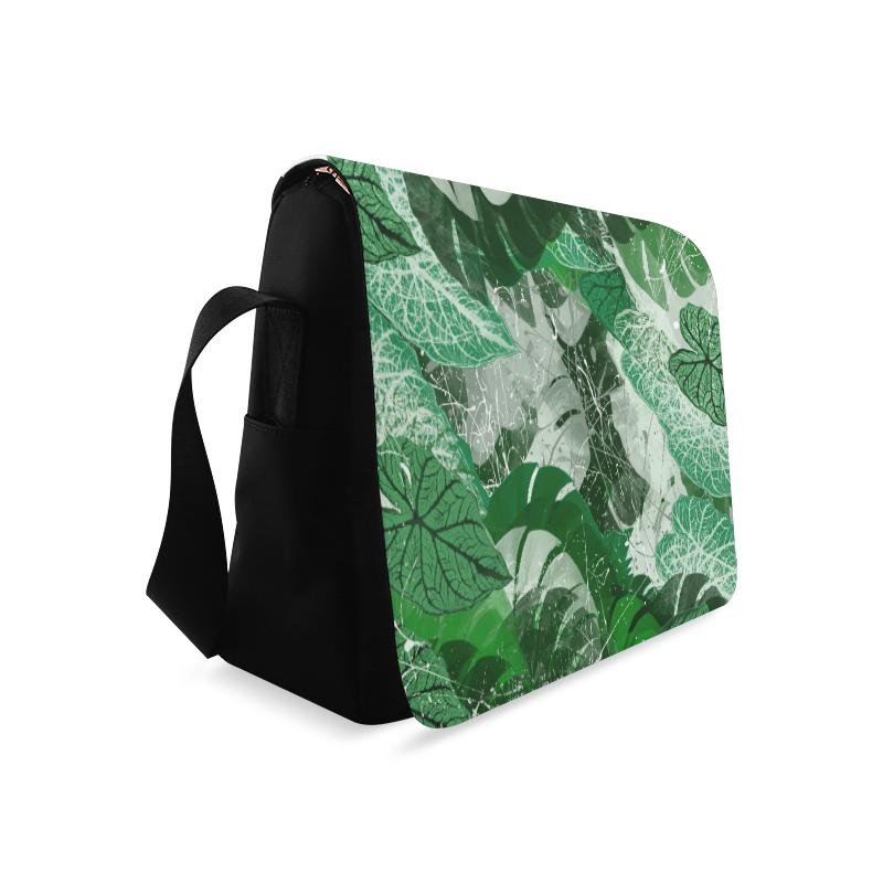 Tropical leaves Messenger Bag (Model 1628)