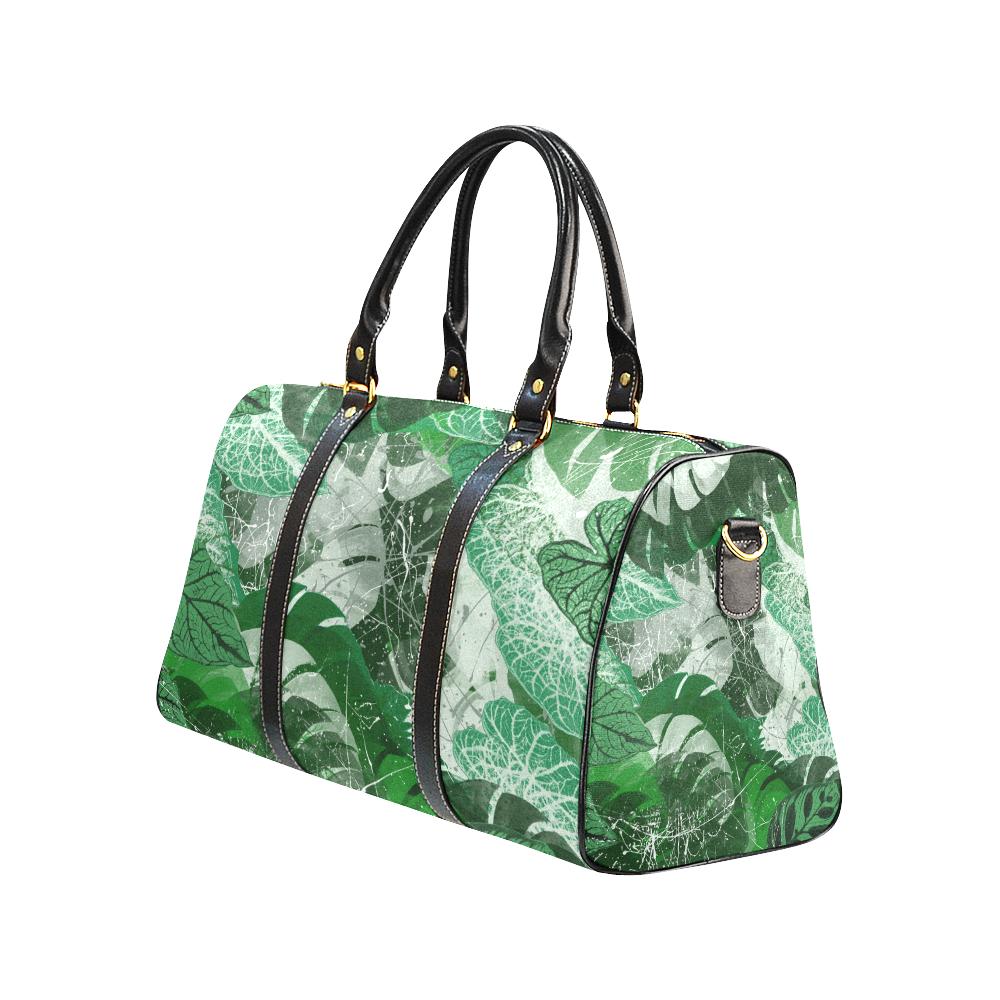 Tropical leaves New Waterproof Travel Bag/Large (Model 1639)